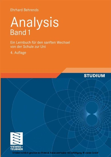 Analysis Band 1 - Blick ins Buch
