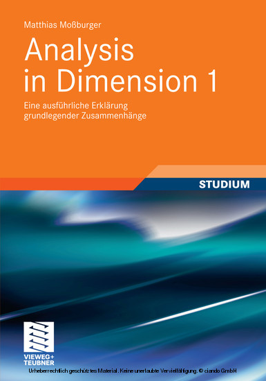 Analysis in Dimension 1 - Blick ins Buch