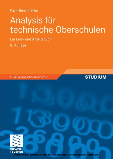 Analysis für technische Oberschulen - Blick ins Buch