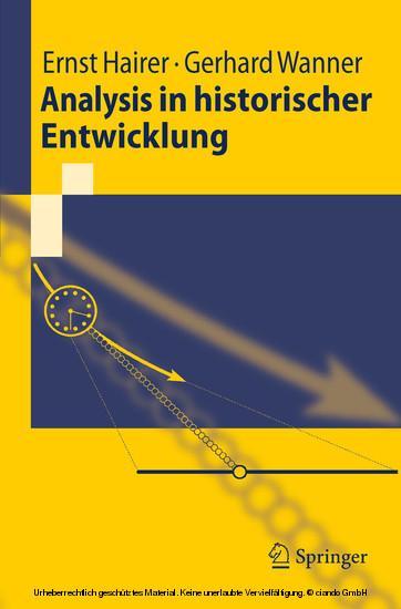 Analysis in historischer Entwicklung - Blick ins Buch