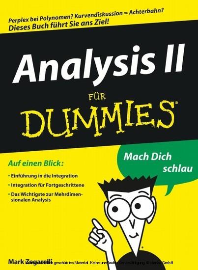 Analysis II für Dummies - Blick ins Buch
