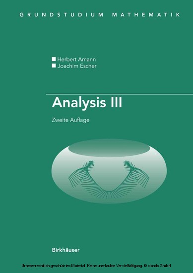 Analysis III - Blick ins Buch