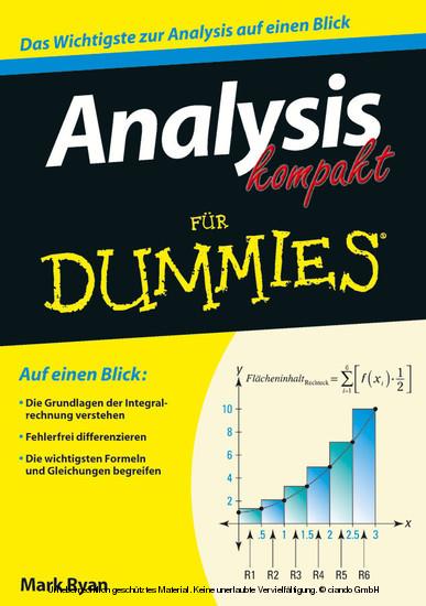 Analysis kompakt fur Dummies, - Blick ins Buch