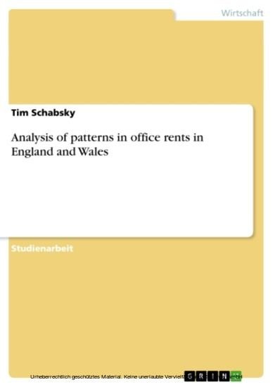 Analysis of patterns in office rents in England and Wales - Blick ins Buch