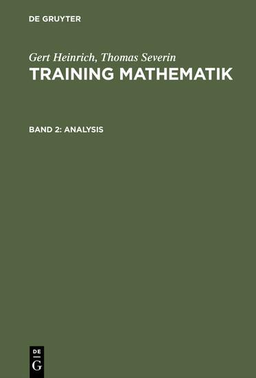 Analysis - Blick ins Buch
