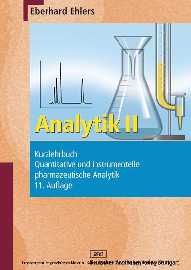 Analytik II - Kurzlehrbuch und Prüfungsfragen - Blick ins Buch