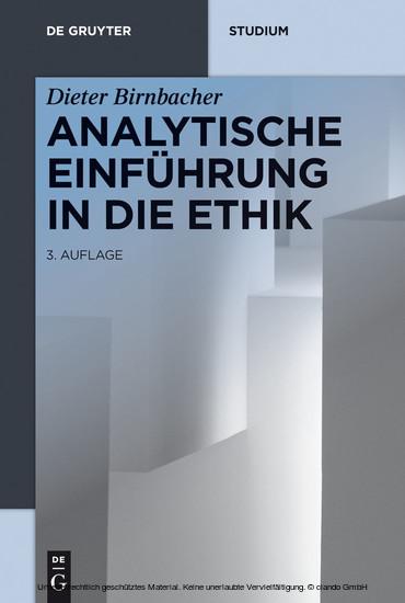Analytische Einführung in die Ethik - Blick ins Buch