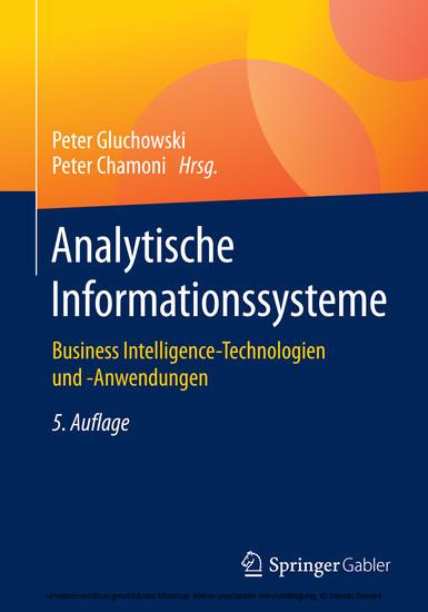 Analytische Informationssysteme - Blick ins Buch