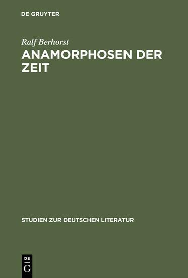 Anamorphosen der Zeit - Blick ins Buch