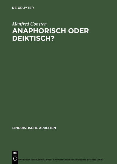 Anaphorisch oder deiktisch? - Blick ins Buch