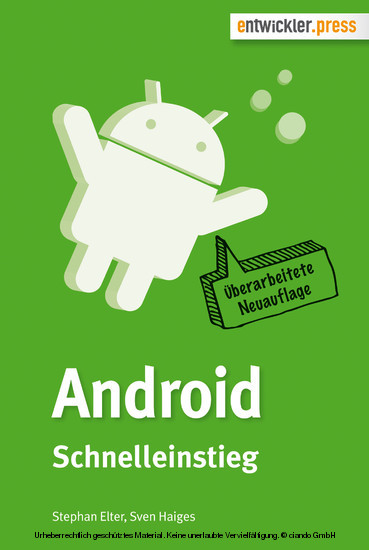 Android Schnelleinstieg - Blick ins Buch