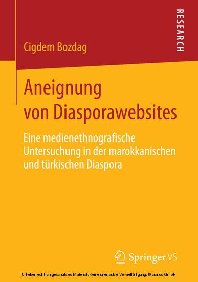 Aneignung von Diasporawebsites - Blick ins Buch