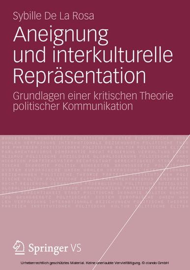 Aneignung und interkulturelle Repräsentation - Blick ins Buch