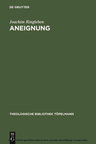 Aneignung - Blick ins Buch