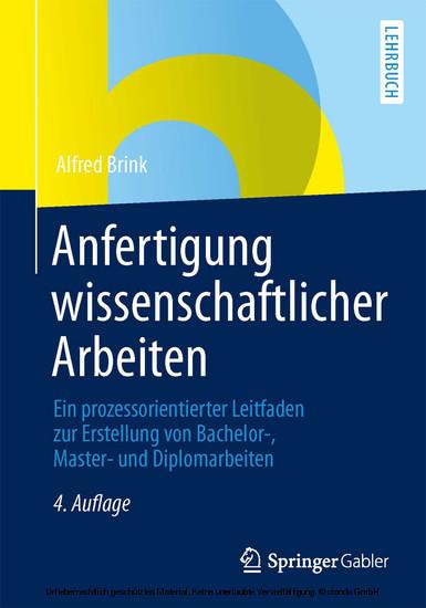 Anfertigung wissenschaftlicher Arbeiten - Blick ins Buch