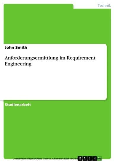 Anforderungsermittlung im Requirement Engineering - Blick ins Buch