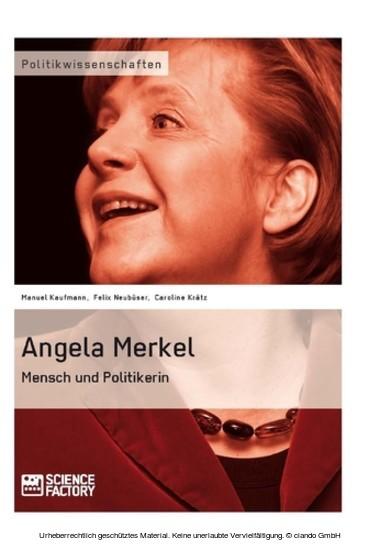 Angela Merkel. Mensch und Politikerin - Blick ins Buch