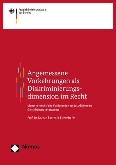Angemessene Vorkehrungen als Diskriminierungsdimension im Recht - Blick ins Buch