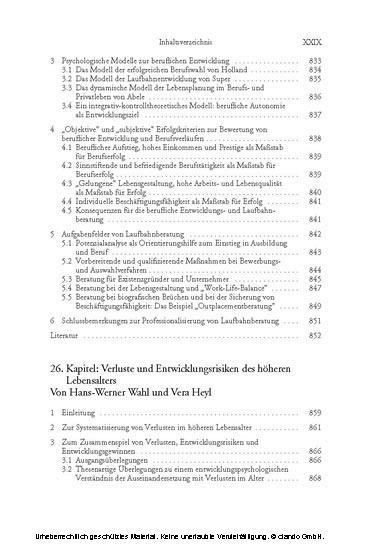 Angewandte Entwicklungspsychologie (Enzyklopädie der Psychologie : Themenbereich C : Ser. 5 ; Bd. 7) - Blick ins Buch