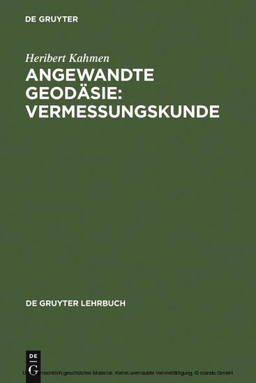 Angewandte Geodäsie: Vermessungskunde - Blick ins Buch