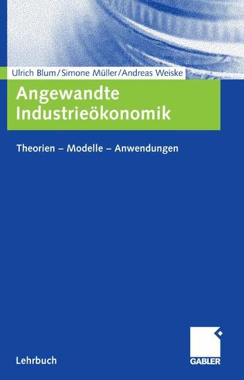 Angewandte Industrieökonomik - Blick ins Buch