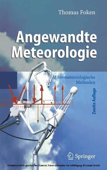 Angewandte Meteorologie - Blick ins Buch