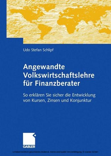 Angewandte Volkswirtschaftslehre für Finanzberater - Blick ins Buch