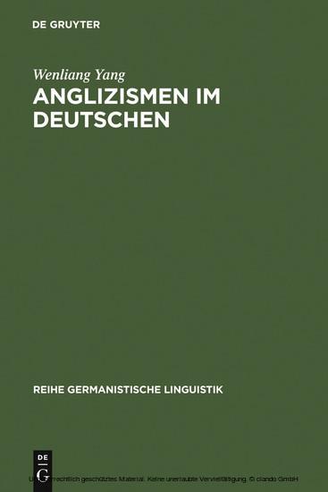 Anglizismen im Deutschen - Blick ins Buch