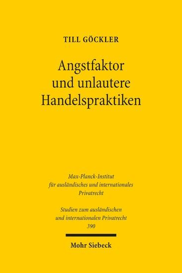 Angstfaktor und unlautere Handelspraktiken - Blick ins Buch