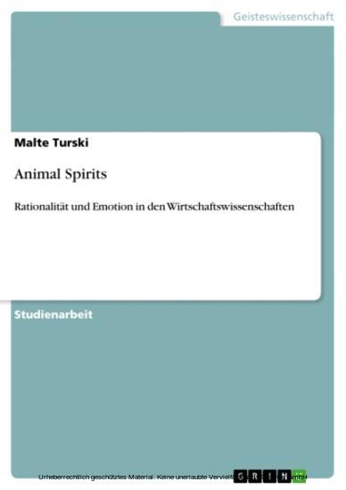 Animal Spirits - Blick ins Buch