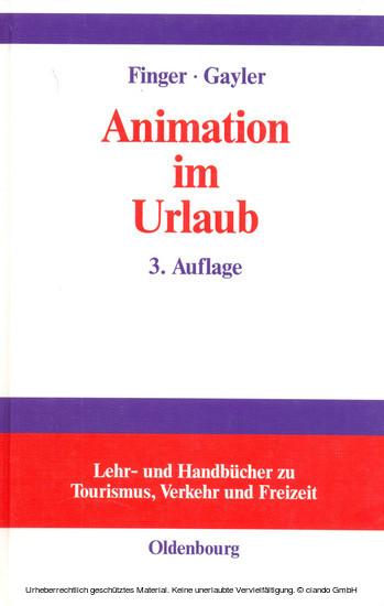 Animation im Urlaub - Blick ins Buch