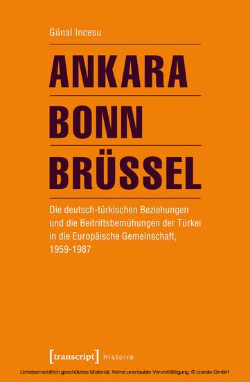 Ankara - Bonn - Brüssel - Blick ins Buch