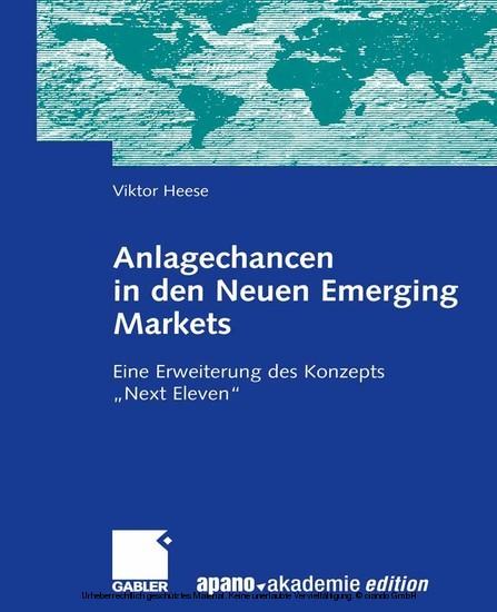 Anlagechancen in den Neuen Emerging Markets - Blick ins Buch