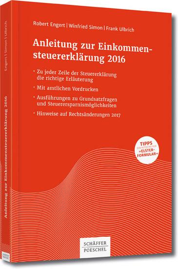 Anleitung zur Einkommensteuererklärung 2016 - Blick ins Buch