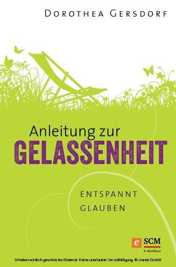Anleitung zur Gelassenheit - Blick ins Buch