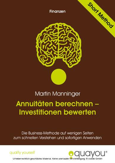 Annuitäten berechnen - Investitionen bewerten - Blick ins Buch