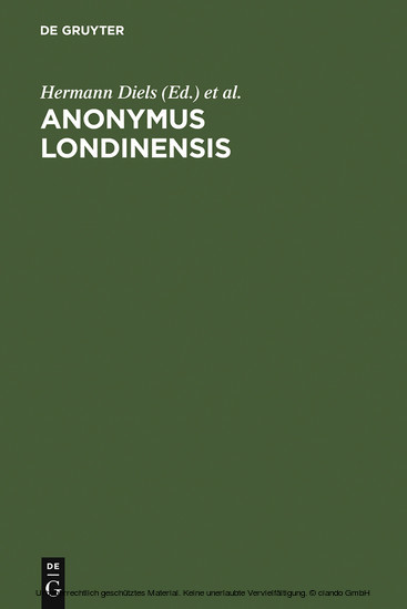 Anonymus Londinensis - Blick ins Buch