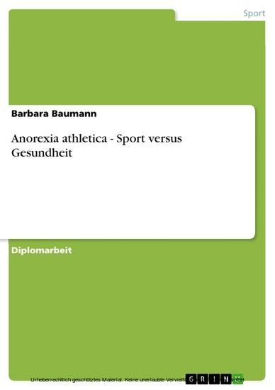 Anorexia athletica - Sport versus Gesundheit - Blick ins Buch