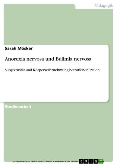 Anorexia nervosa und Bulimia nervosa - Blick ins Buch
