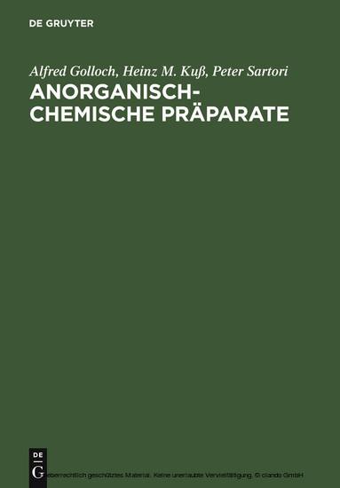 Anorganisch-Chemische Präparate - Blick ins Buch