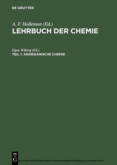 Anorganische Chemie - Blick ins Buch