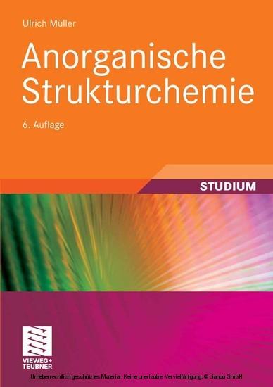 Anorganische Strukturchemie - Blick ins Buch