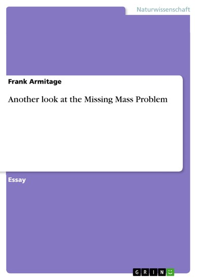 Another look at the Missing Mass Problem - Blick ins Buch