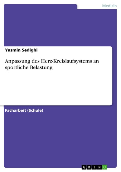 Anpassung des Herz-Kreislaufsystems an sportliche Belastung - Blick ins Buch