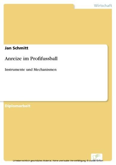 Anreize im Profifussball - Blick ins Buch