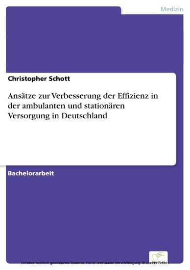 Ansätze zur Verbesserung der Effizienz in der ambulanten und stationären Versorgung in Deutschland - Blick ins Buch
