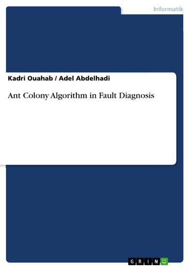 Ant Colony Algorithm in Fault Diagnosis - Blick ins Buch