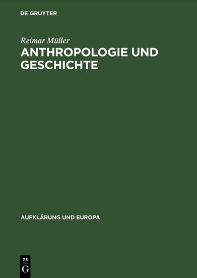 Anthropologie und Geschichte - Blick ins Buch