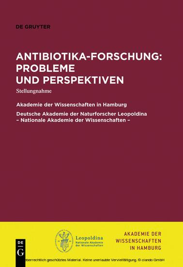 Antibiotika-Forschung: Probleme und Perspektiven - Blick ins Buch