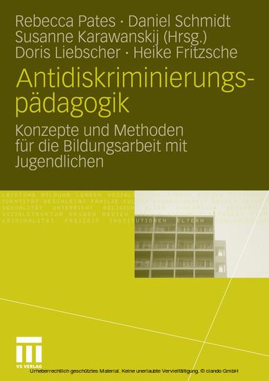 Antidiskriminierungspädagogik - Blick ins Buch